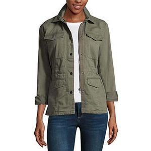 A.N.A Military Green Anorak Utility Button Jacket